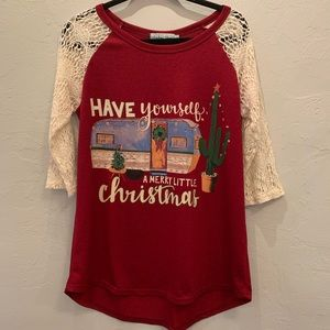 Southern Grace Christmas Lace Graphic Tee